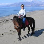 Melanouri horse farm. Прогулка по пляжу